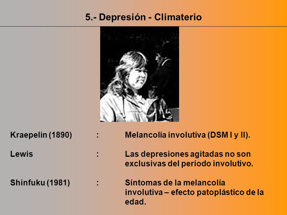 5.- Depresión - Climaterio