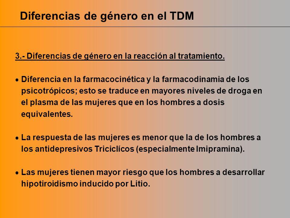 Diferencias de género en el TDM