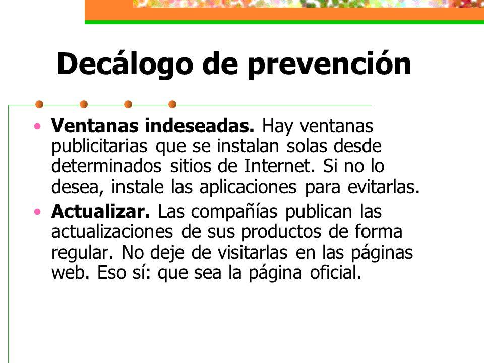 Decálogo de prevención