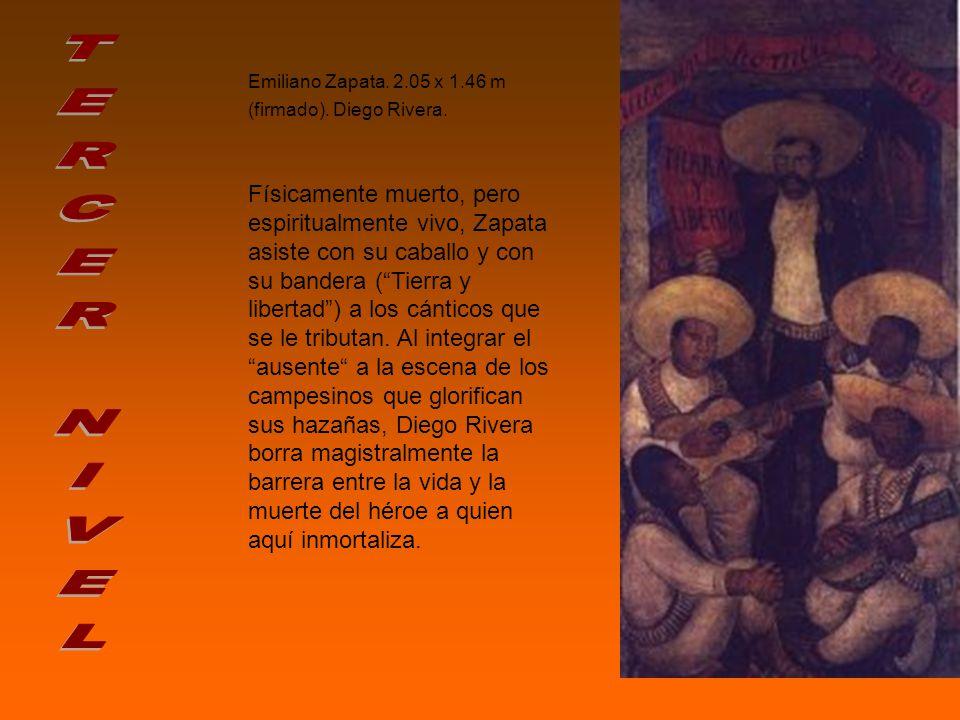 Emiliano Zapata. 2. 05 x 1. 46 m (firmado). Diego Rivera