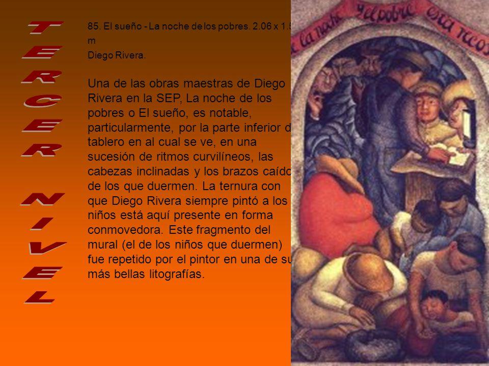 85. El sueño - La noche de los pobres. 2. 06 x 1. 59 m Diego Rivera