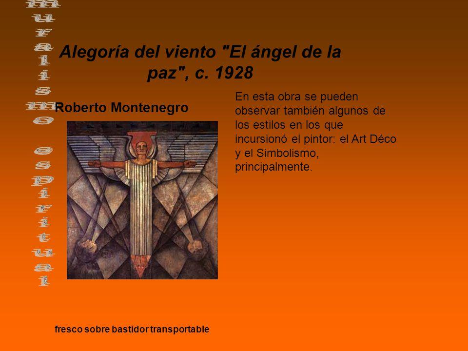 Alegoría del viento El ángel de la paz , c. 1928