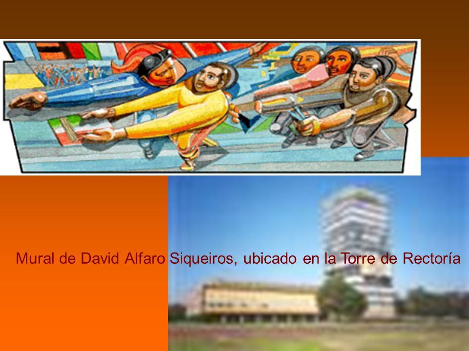Mural de David Alfaro Siqueiros, ubicado en la Torre de Rectoría.