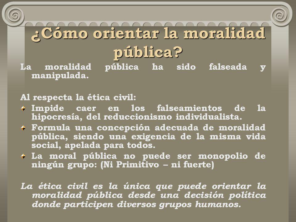 ¿Cómo orientar la moralidad pública