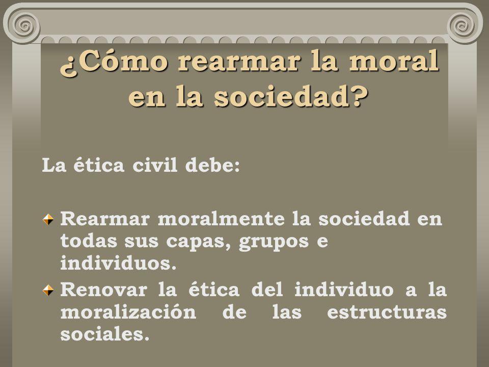 ¿Cómo rearmar la moral en la sociedad