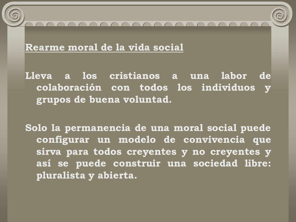 Rearme moral de la vida social