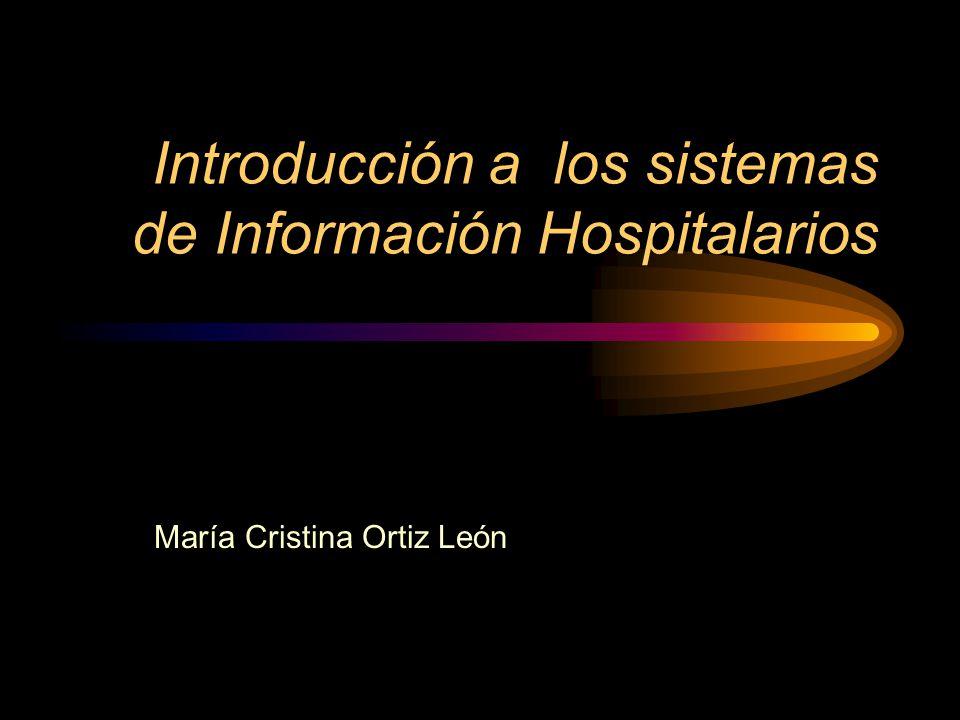 Introducción a los sistemas de Información Hospitalarios