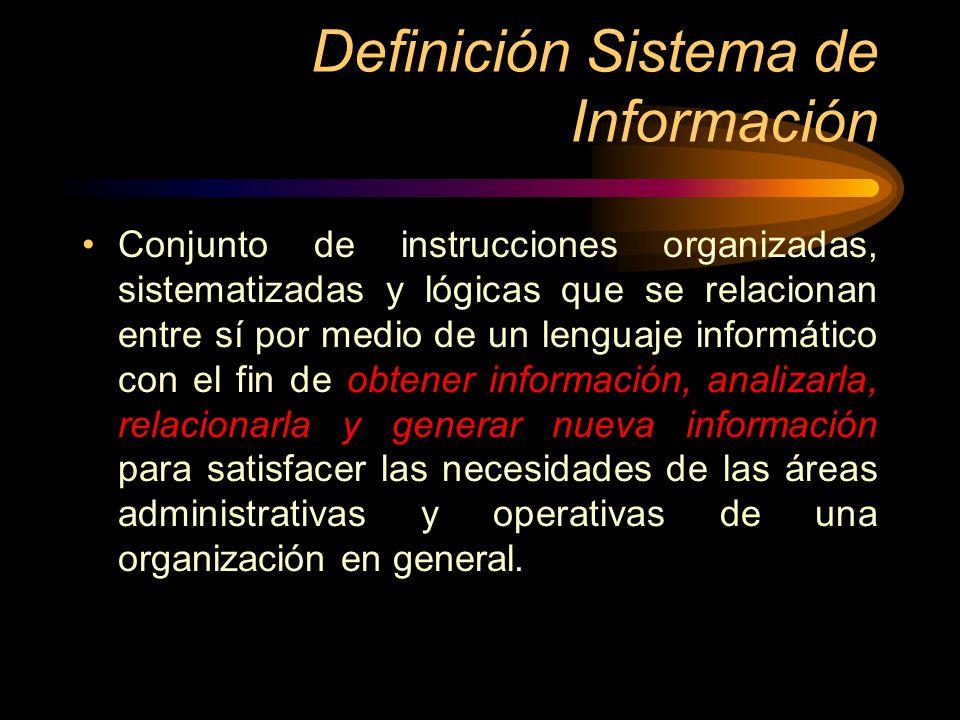 Definición Sistema de Información