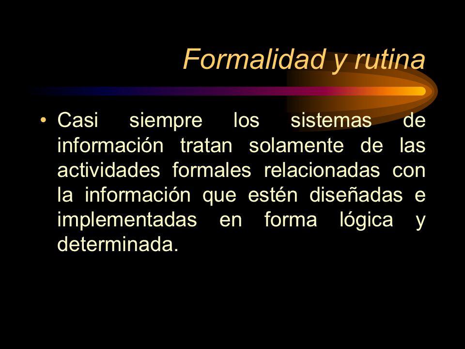 Formalidad y rutina