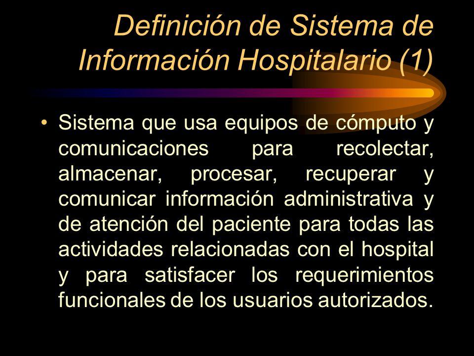 Definición de Sistema de Información Hospitalario (1)