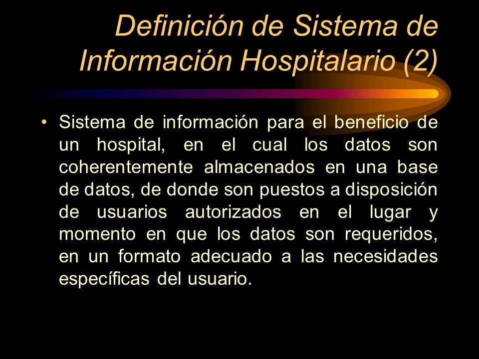 Definición de Sistema de Información Hospitalario (2)