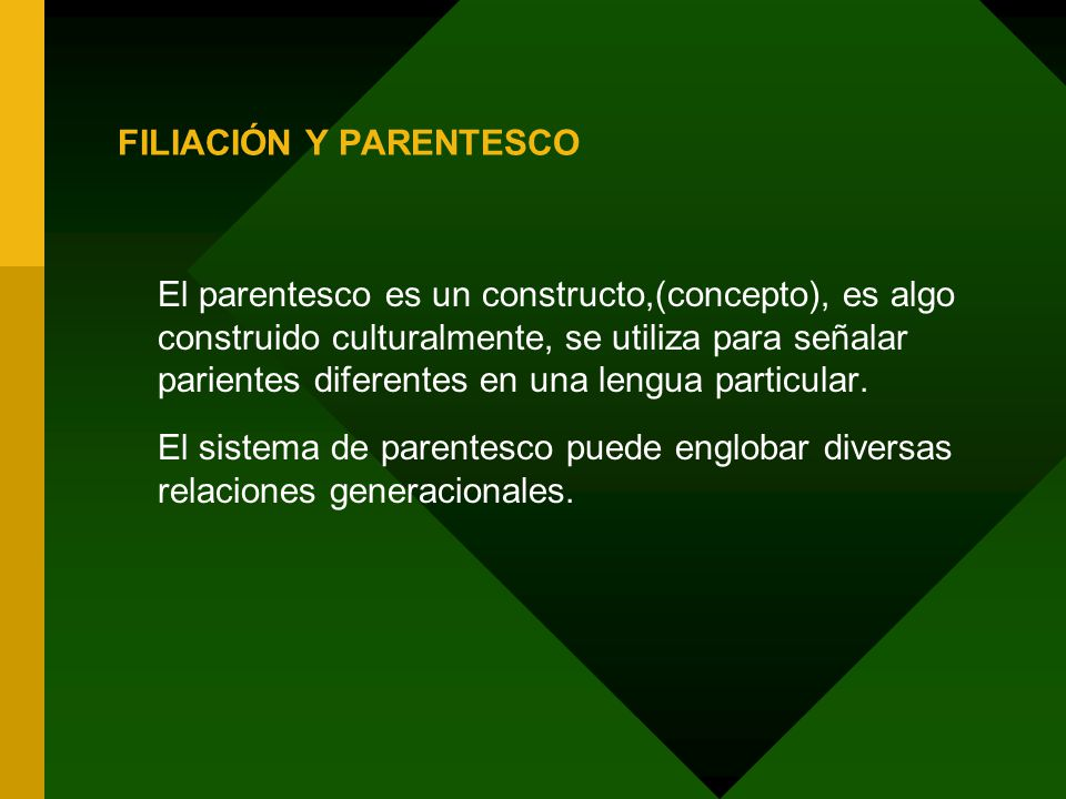 FILIACIÓN Y PARENTESCO