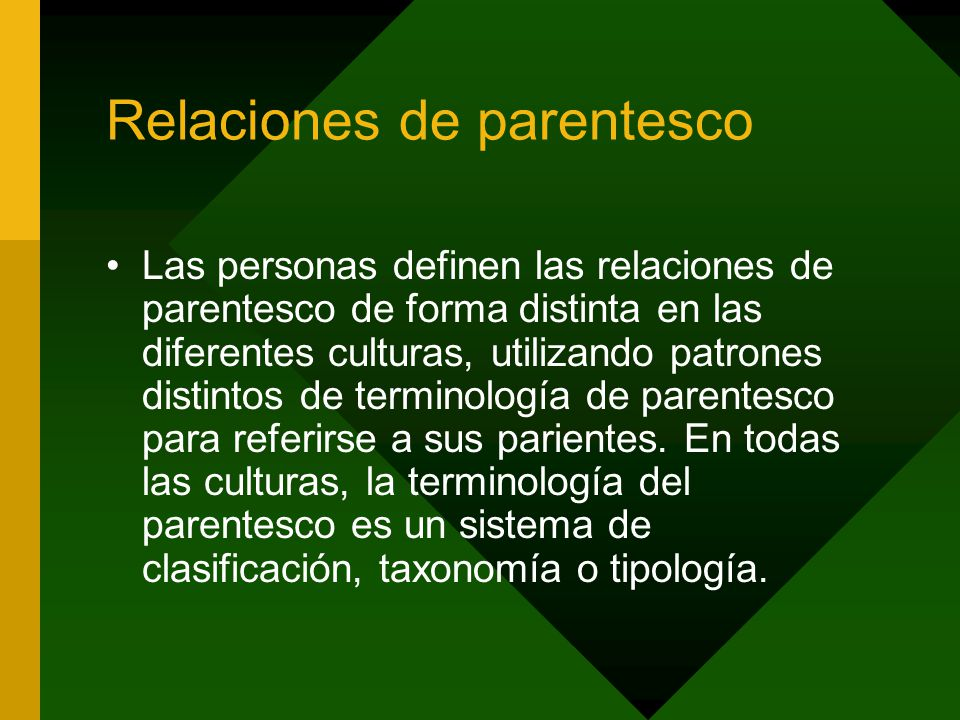 Relaciones de parentesco