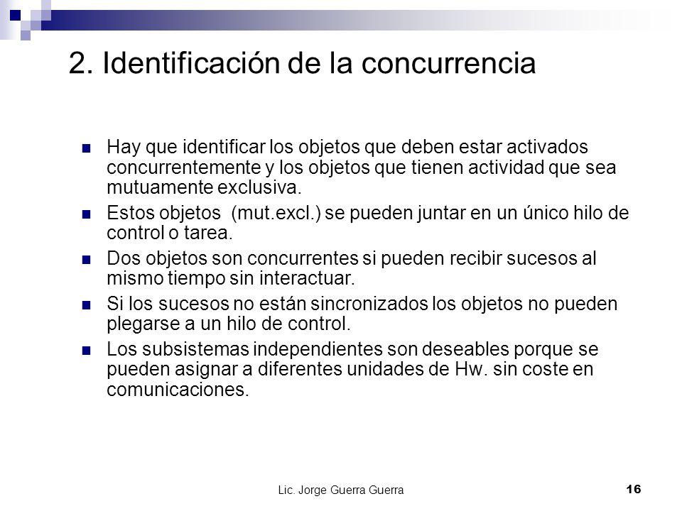 2. Identificación de la concurrencia