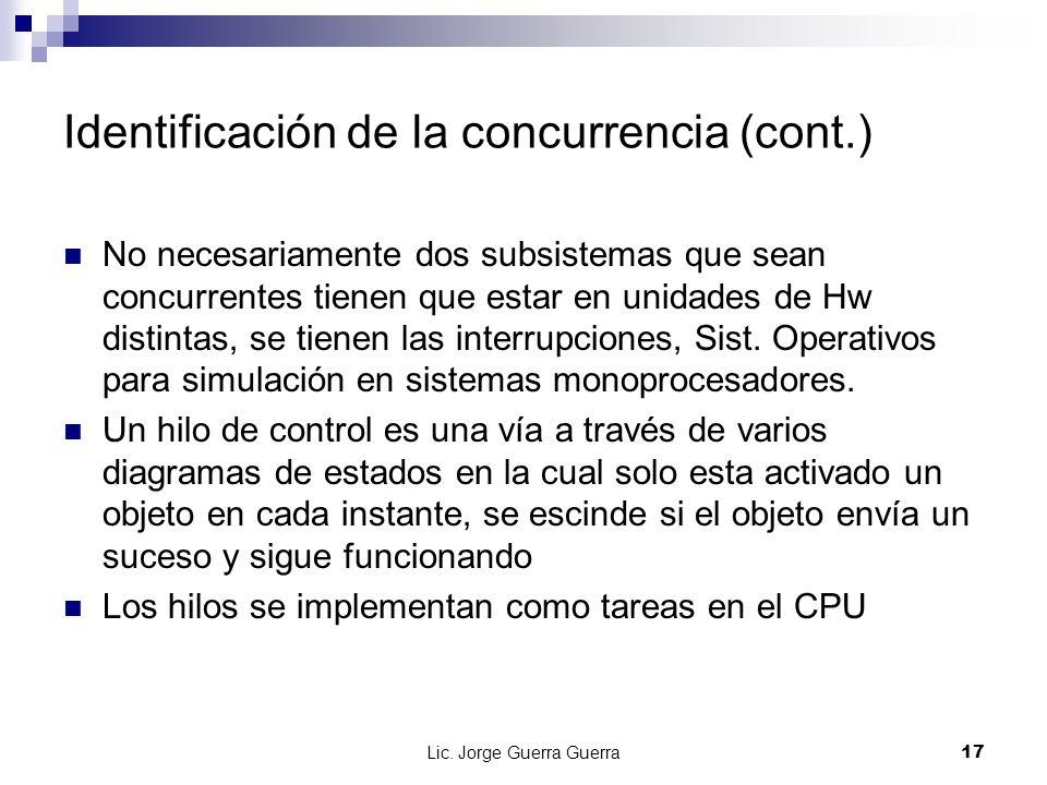 Identificación de la concurrencia (cont.)