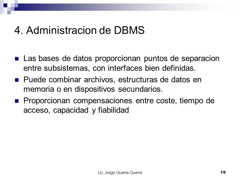 4. Administracion de DBMS