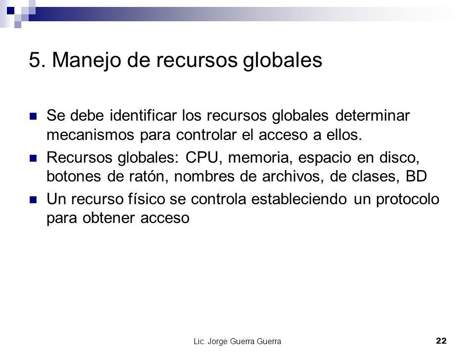 5. Manejo de recursos globales