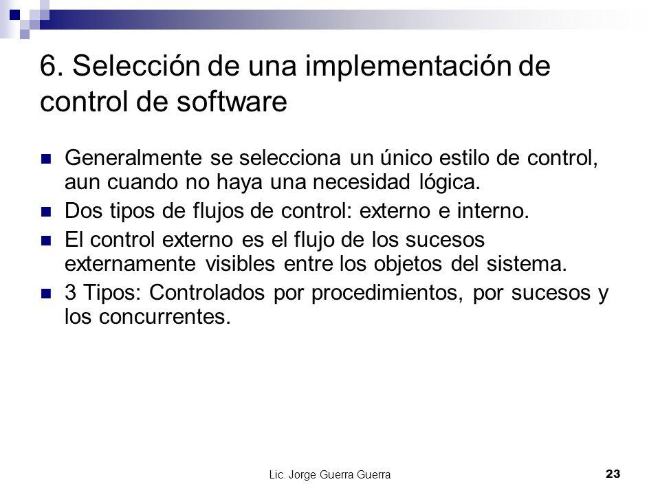 6. Selección de una implementación de control de software