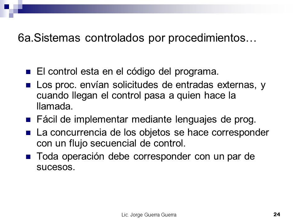 6a.Sistemas controlados por procedimientos…