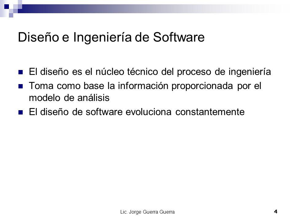 Diseño e Ingeniería de Software