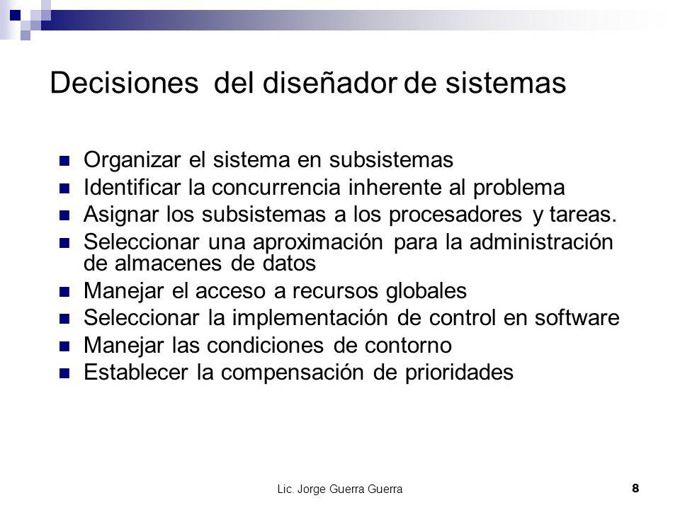 Decisiones del diseñador de sistemas