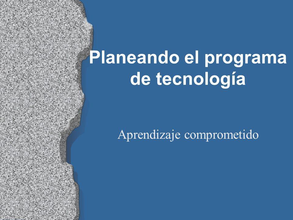 Planeando el programa de tecnología