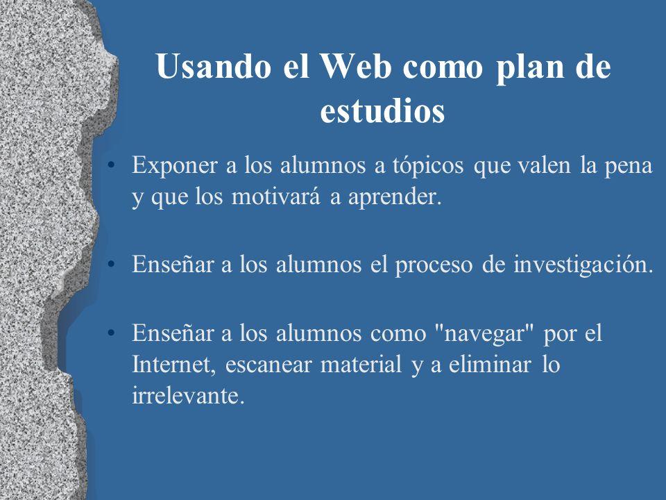 Usando el Web como plan de estudios