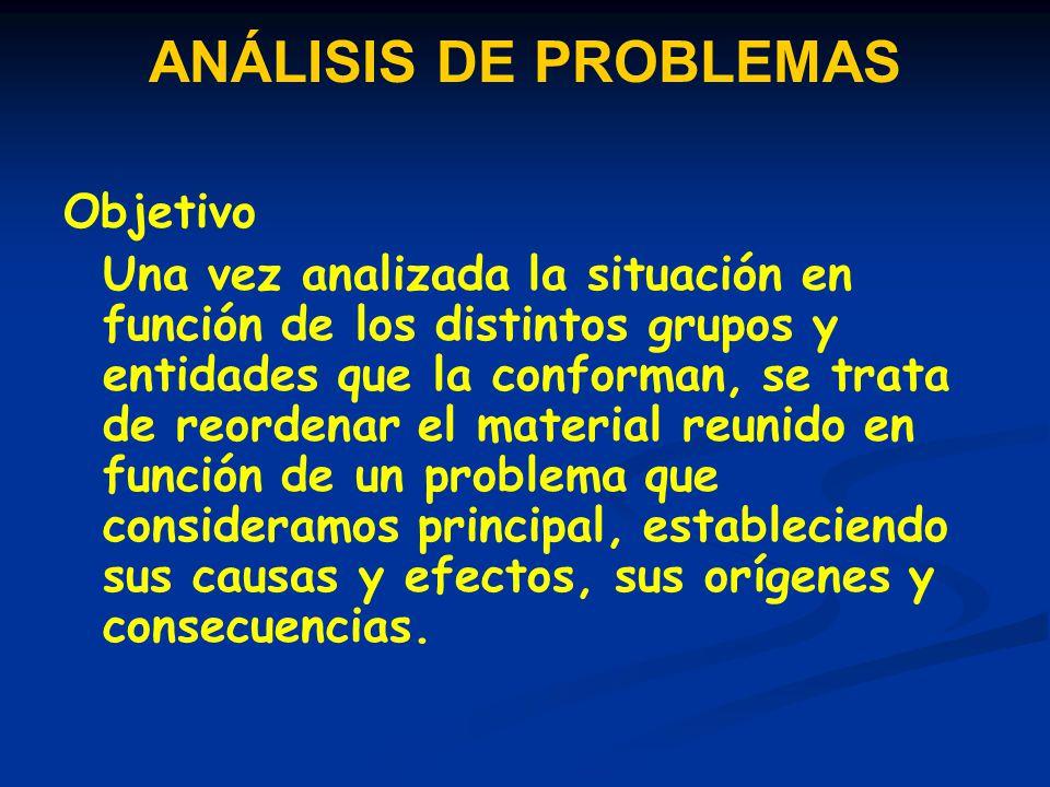 ANÁLISIS DE PROBLEMAS Objetivo