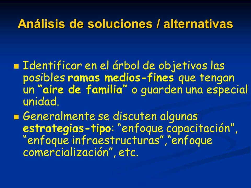 Análisis de soluciones / alternativas