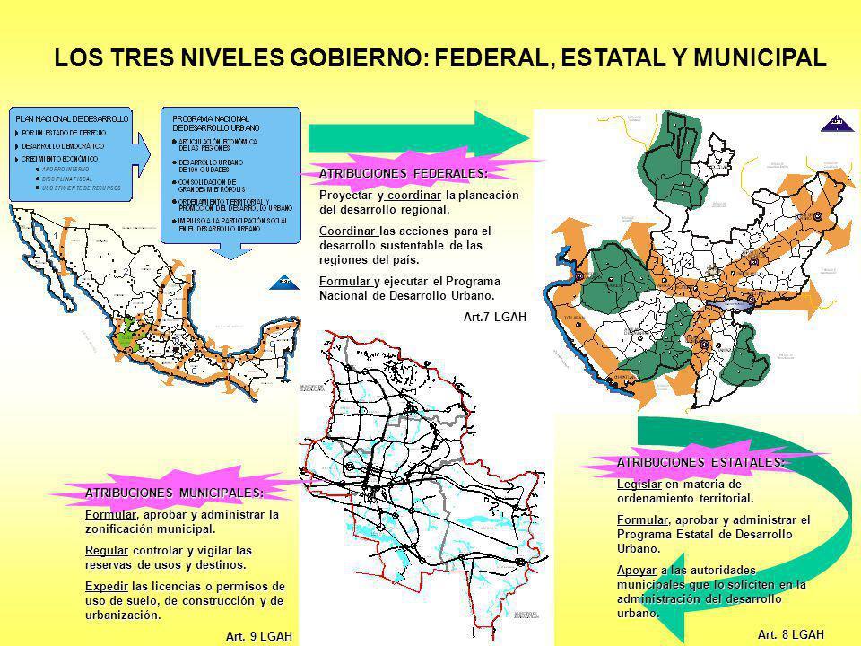 LOS TRES NIVELES GOBIERNO: FEDERAL, ESTATAL Y MUNICIPAL