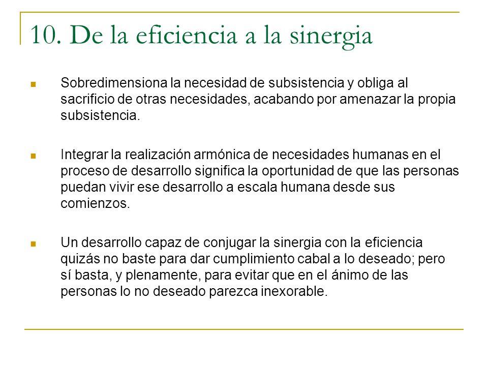 10. De la eficiencia a la sinergia