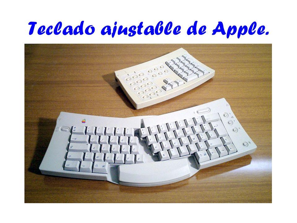 Teclado ajustable de Apple.
