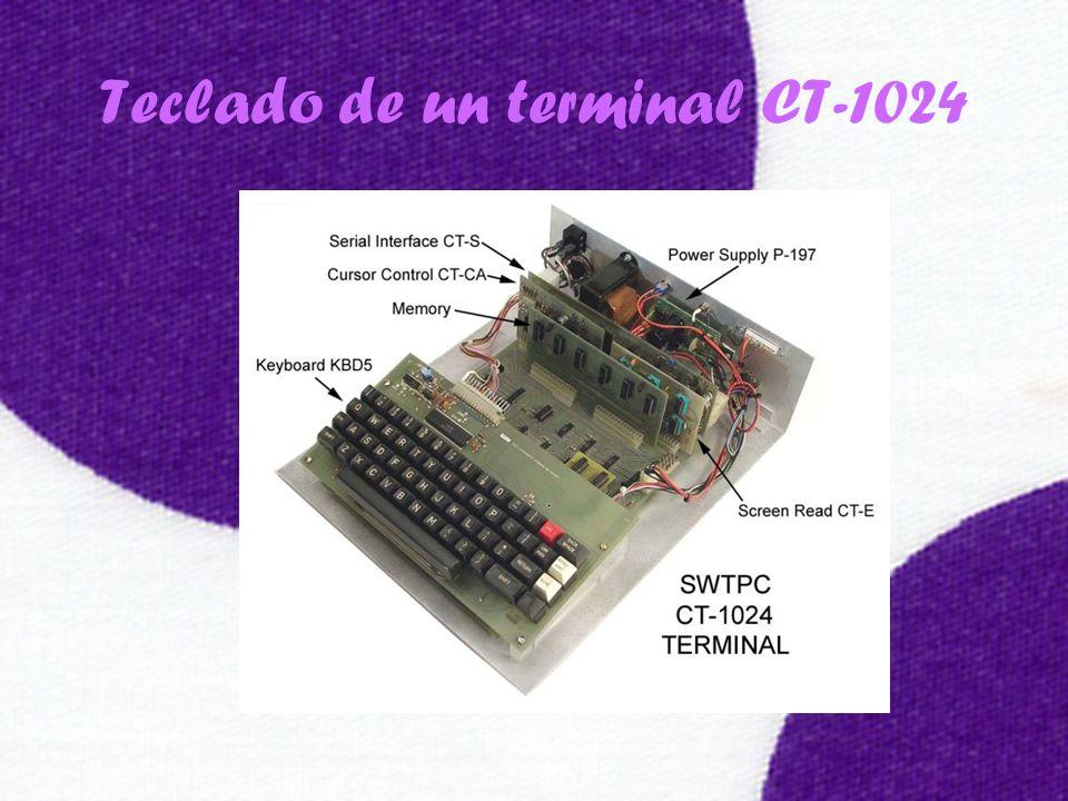 Teclado de un terminal CT-1024