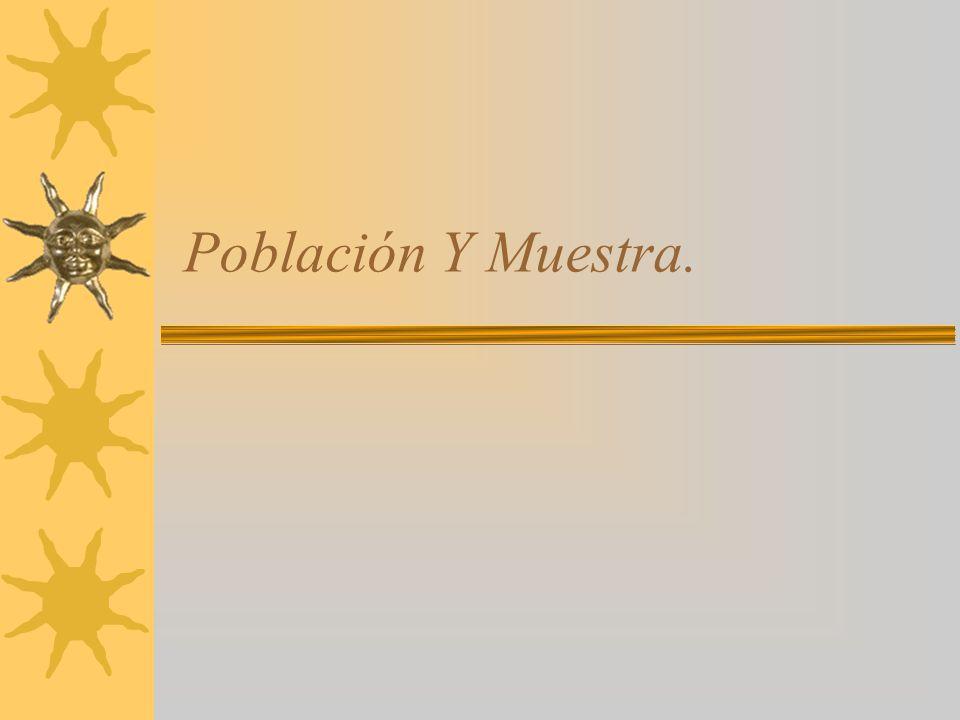 Población Y Muestra.