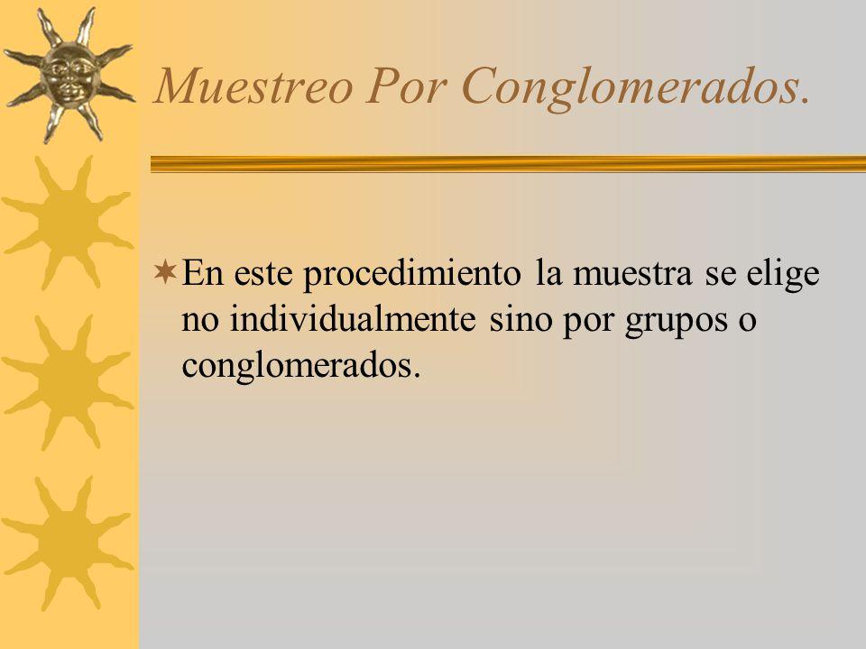 Muestreo Por Conglomerados.