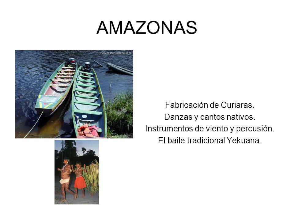 AMAZONAS Fabricación de Curiaras. Danzas y cantos nativos.