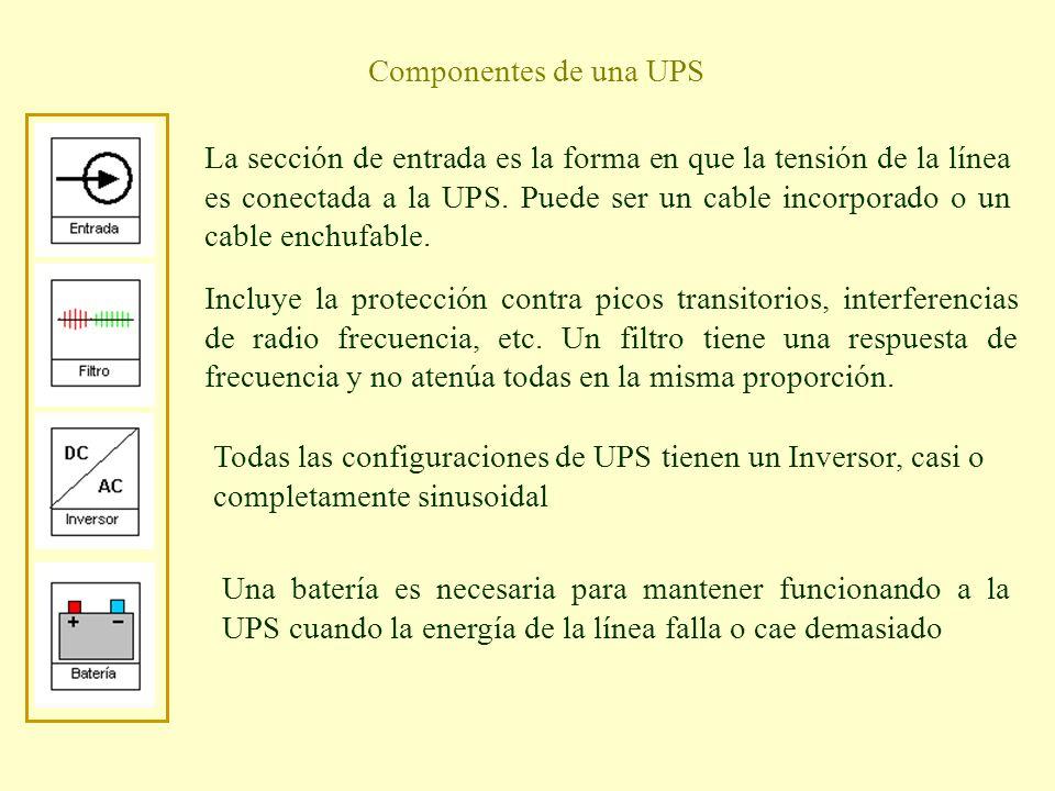 Componentes de una UPS