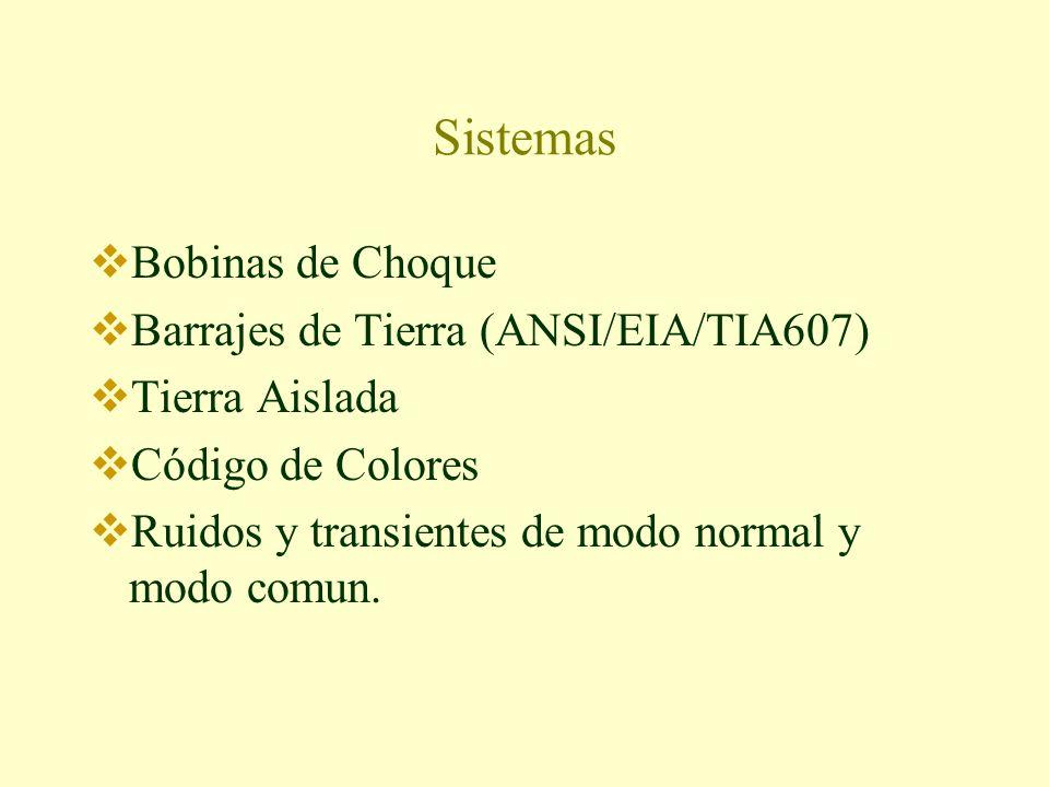 Sistemas Bobinas de Choque Barrajes de Tierra (ANSI/EIA/TIA607)