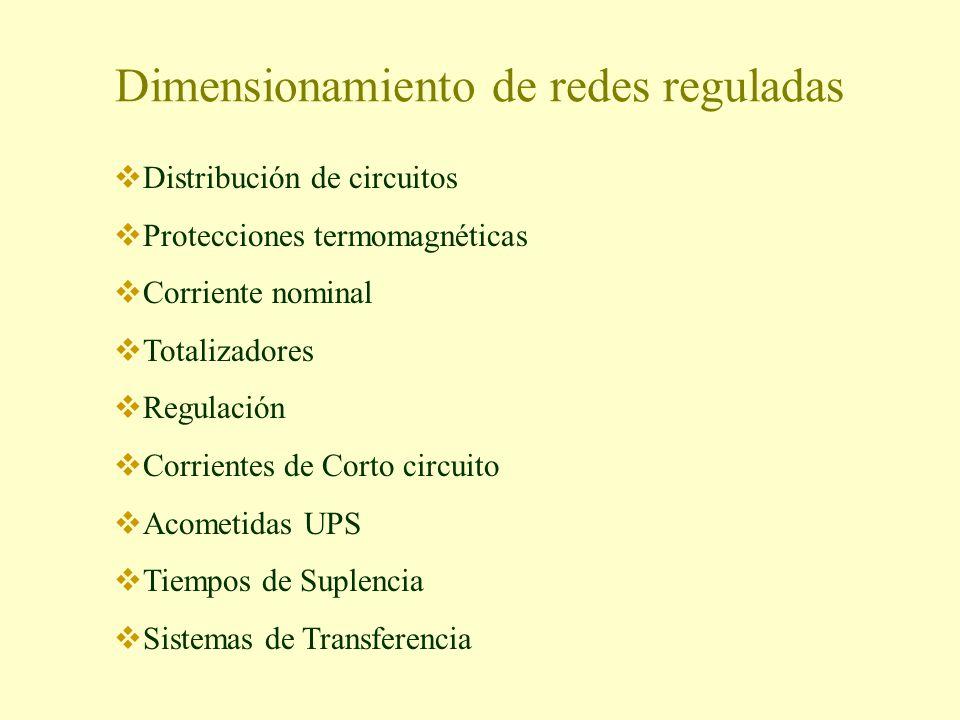 Dimensionamiento de redes reguladas