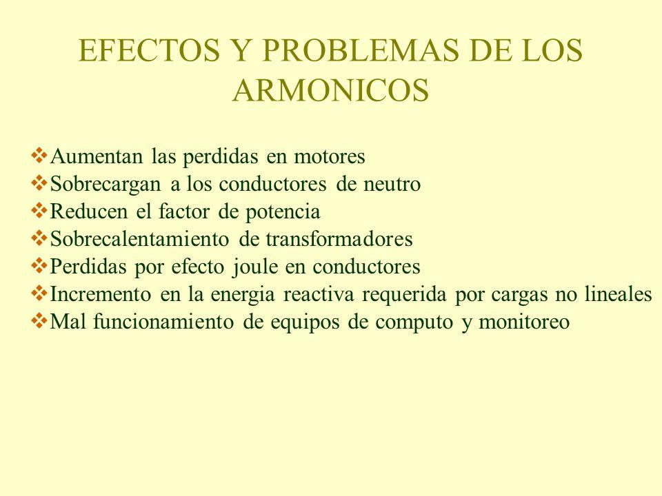EFECTOS Y PROBLEMAS DE LOS ARMONICOS
