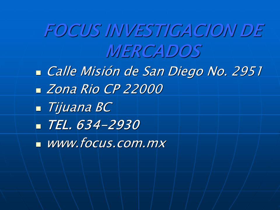 FOCUS INVESTIGACION DE MERCADOS