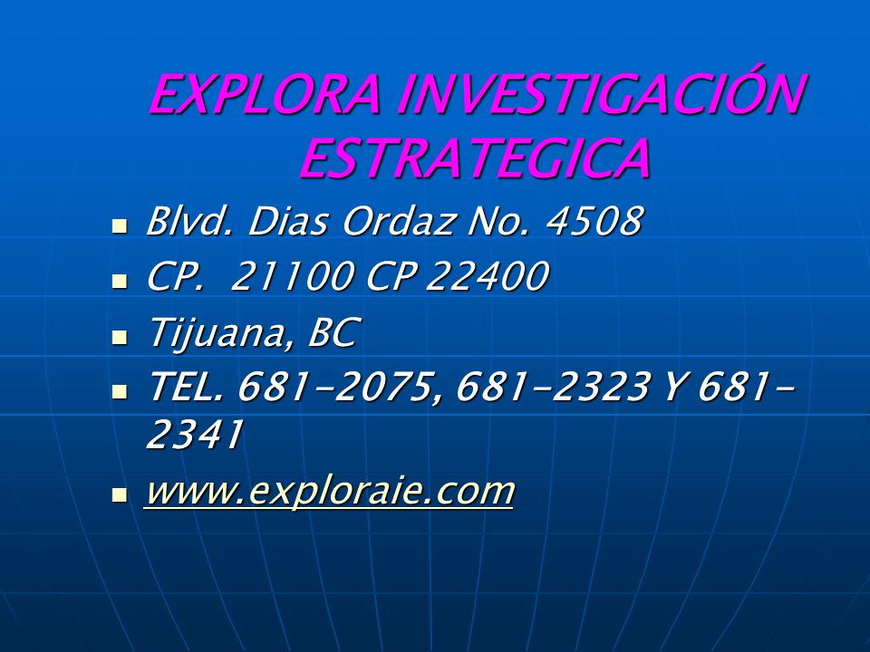 EXPLORA INVESTIGACIÓN ESTRATEGICA
