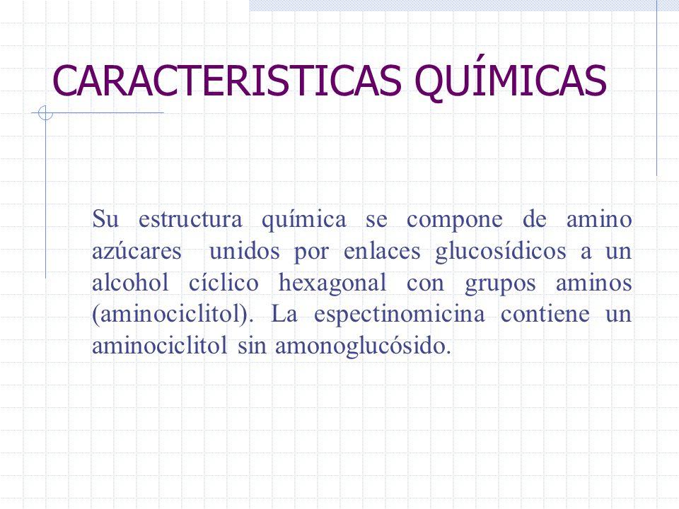 CARACTERISTICAS QUÍMICAS