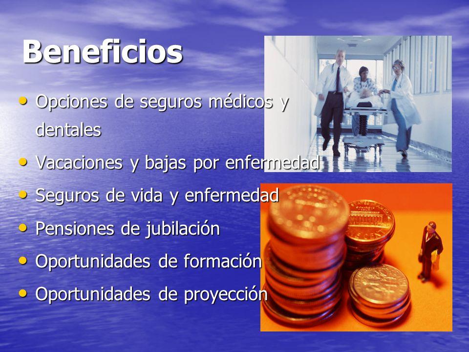 Beneficios Opciones de seguros médicos y dentales