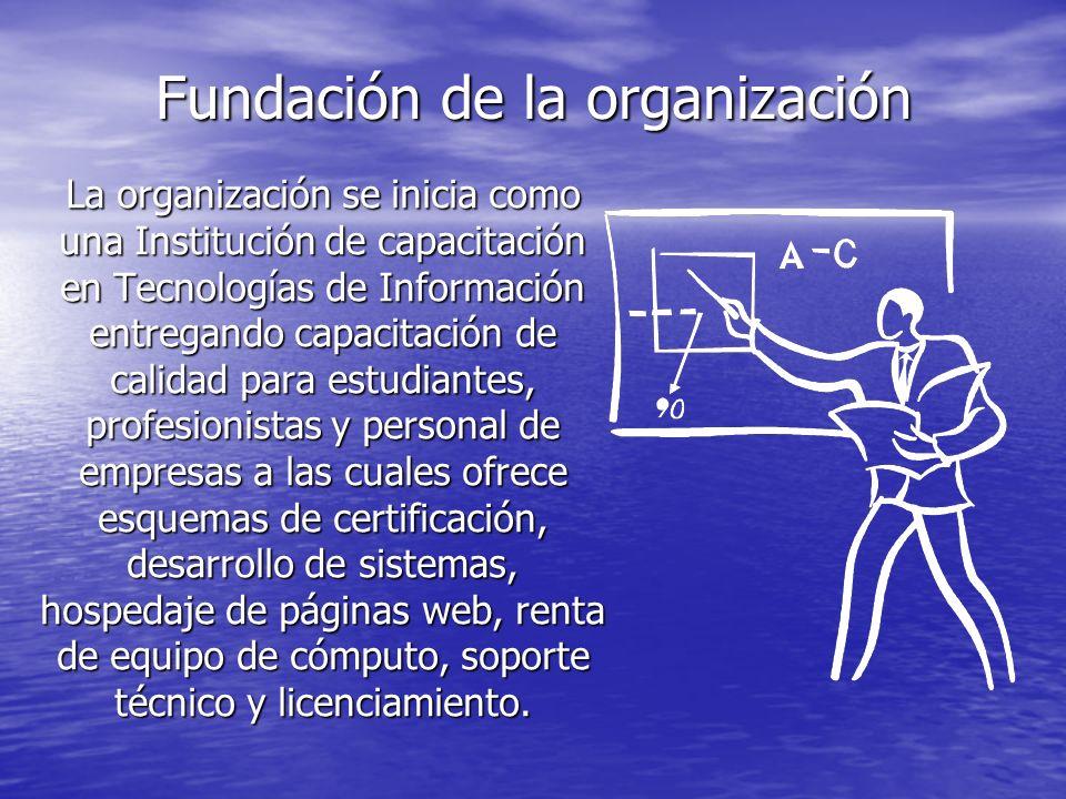 Fundación de la organización