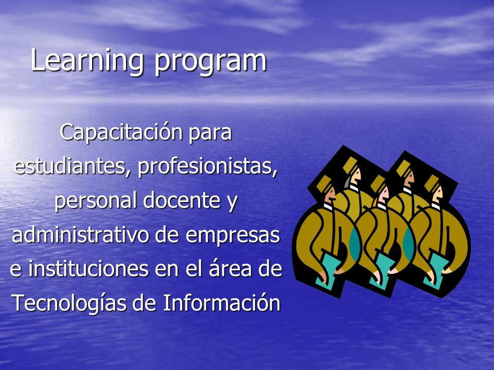 Learning program