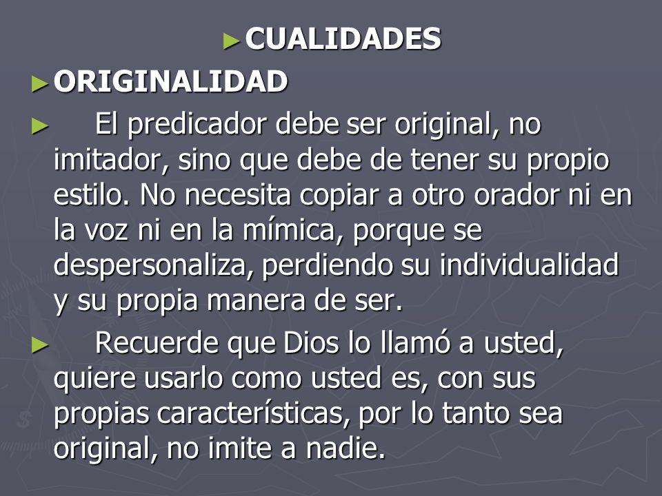 CUALIDADES ORIGINALIDAD.