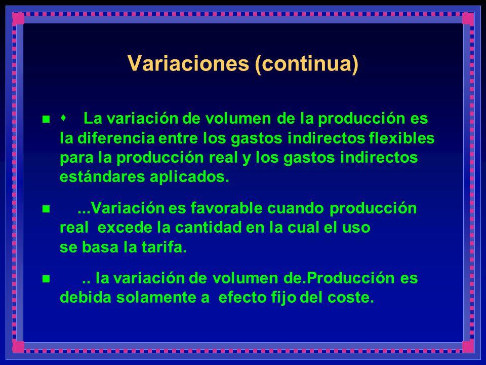 Variaciones (continua)