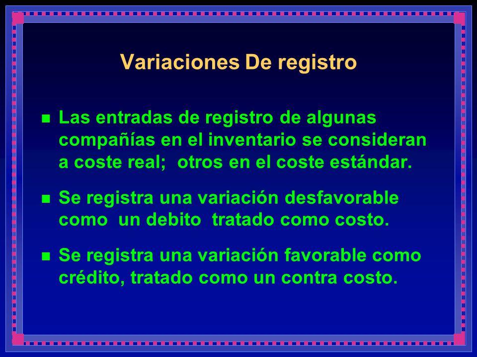 Variaciones De registro