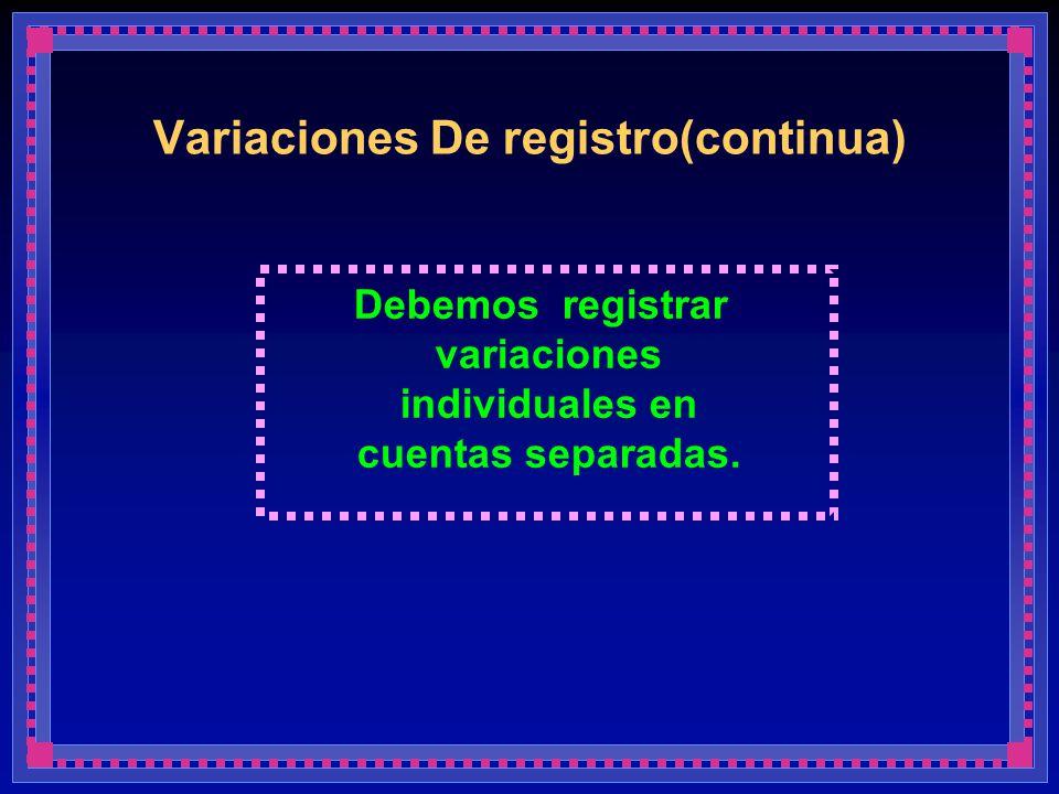 Variaciones De registro(continua)
